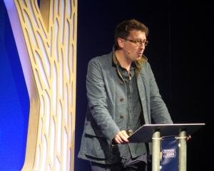 Speaking at the Edinburgh International Book Festival in August 2016. Credit: Edinburgh International Book Festival